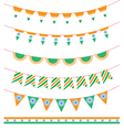 Happy India Independence Day set of ribbon garland vector image