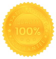 100 percent guarantee satisfaction quality vector image vector image