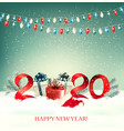 2020 new year background with gift boxes and vector image vector image