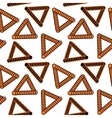 abstract pattern of orange triangles vector image