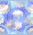 abstract round mandala pattern vector image vector image
