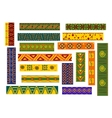African ethnic ornaments and decorative patterns vector image vector image