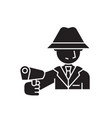 armed man black concept icon armed man vector image vector image