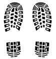 black footstep background vector image vector image