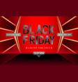 black friday sale red gold design vector image vector image
