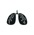 Black simple Medical Lungs icon isolated vector image vector image