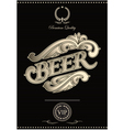 black template for the cover of beer menu vector image