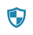 blue high security shield icon on a white vector image