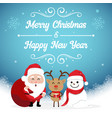 character cartoon cute christmas day merry vector image vector image