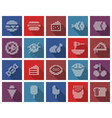 collection square dotted icons food vector image vector image