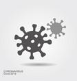 corona virus cells sign flat vector icon wint vector image