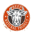 cow logo design template beef or farm icon vector image vector image