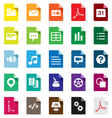 Document File Types vector image vector image