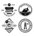 dry cleaning service and laundry room set four vector image vector image