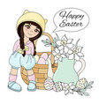 easter holiday great religious party set vector image