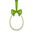 Easter paschal egg with green bow isolated on vector image vector image
