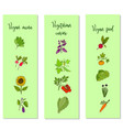 eco food vegan menu templates vector image vector image