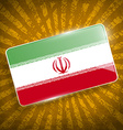 Flag of Iran with old texture vector image vector image