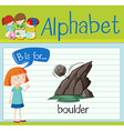 Flashcard alphabet B is for boulder vector image vector image