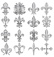 Fleur de lis set small vector | Price: 1 Credit (USD $1)