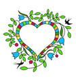 floral frame valentine s day vector image