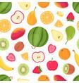 fruits seamless pattern tropical citrus fruit vector image
