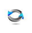 Glossy Circular Arrow vector image vector image
