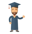 Graduation young man dream vector image