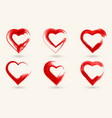 hand painted signs heart ink and brush vector image vector image