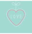 Hanging pink and blue heart with bow Love card vector image vector image