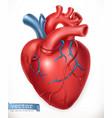 human heart medicine internal organs 3d icon