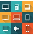icons computers vector image