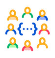 idea discussion icon outline vector image