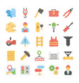 industrial and construction flat icons vector image vector image