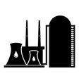 isolated oil energy plant icon vector image vector image