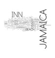 jamaica inn text background word cloud concept vector image vector image