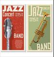 jazz concert banner vector image vector image