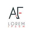 logo between letter a and letter f or af