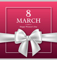 march 8 greeting card for international womans day vector image