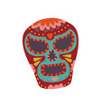 mexican sugar skull with colorful pattern dia de vector image vector image