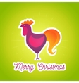 Modern cartoon poster Merry Christmas 2017 with vector image vector image