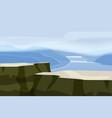 mountain landscape plateau rock rocks hills river vector image