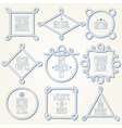 Nautical rope borders vector image vector image