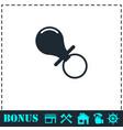 nipple icon flat vector image vector image