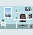 office workplace and interior office vector image vector image
