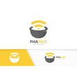 pharmacy and wifi logo combination pounder vector image vector image