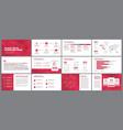 presentation templates elements vector image vector image