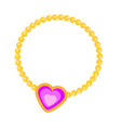 princess necklace with heart vector image vector image