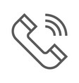 public navigation line icon phone vector image vector image