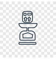 scale concept linear icon isolated on transparent vector image vector image